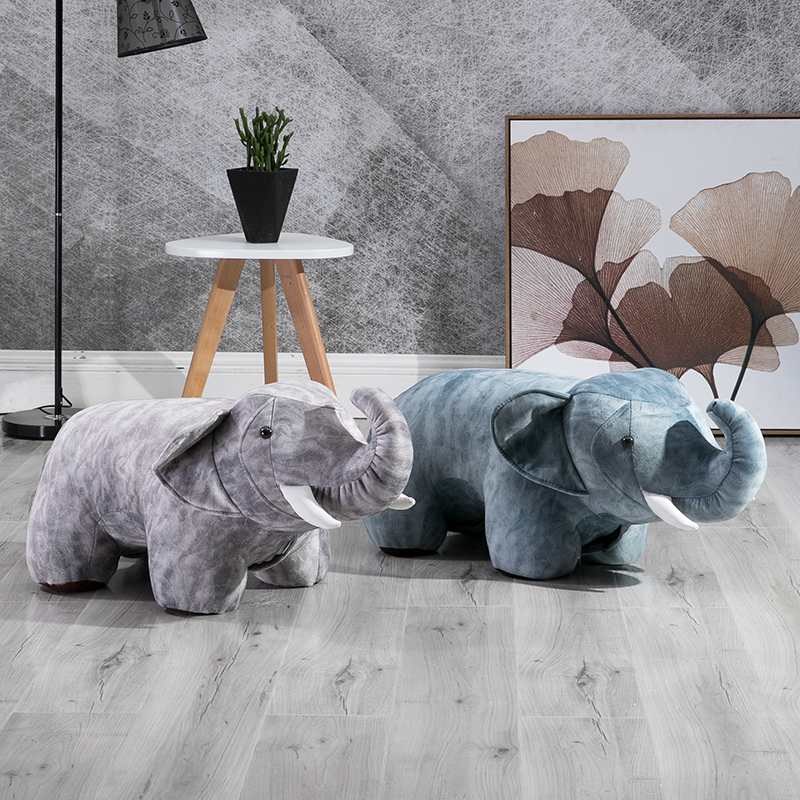 Hot Sale Kruk Chair Taburetes Elephant Stools For Shoes Designer Furniture Sofa Animal Personality Fabric Modern Stool Chair ...