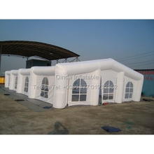 All white protable church tent inflatable wedding tent pup up house for party or wedding event