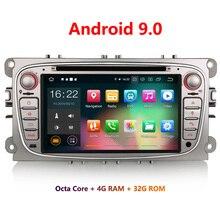 Erisin ES7909F 7 дюймов Android 9,0 Восьмиядерный 4 Гб ram Автомобильный DVD Радио BT для Focus S-Max 2008-2011
