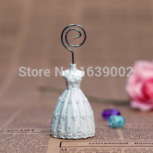20pcs High quality Bride  dress place card holder favor groomsmen gifts Free Shipping