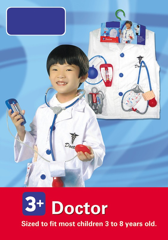 Children Doctor Role-playing Birthday Cosplay Stage Wear Girl Boy Clothing Kids Halloween Cosplay Costume Kids Doctor Costume