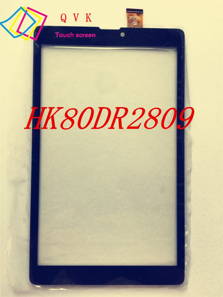 5pcs black white 8inch QX20151104 HK80DR2809 capacitive touch screen panel digitizer glass sensor replacement