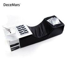 Travesseiro de flanela para salão de beleza, ferramentas de maquiagem para extensão de cílios, travesseiro ergonômico de apoio