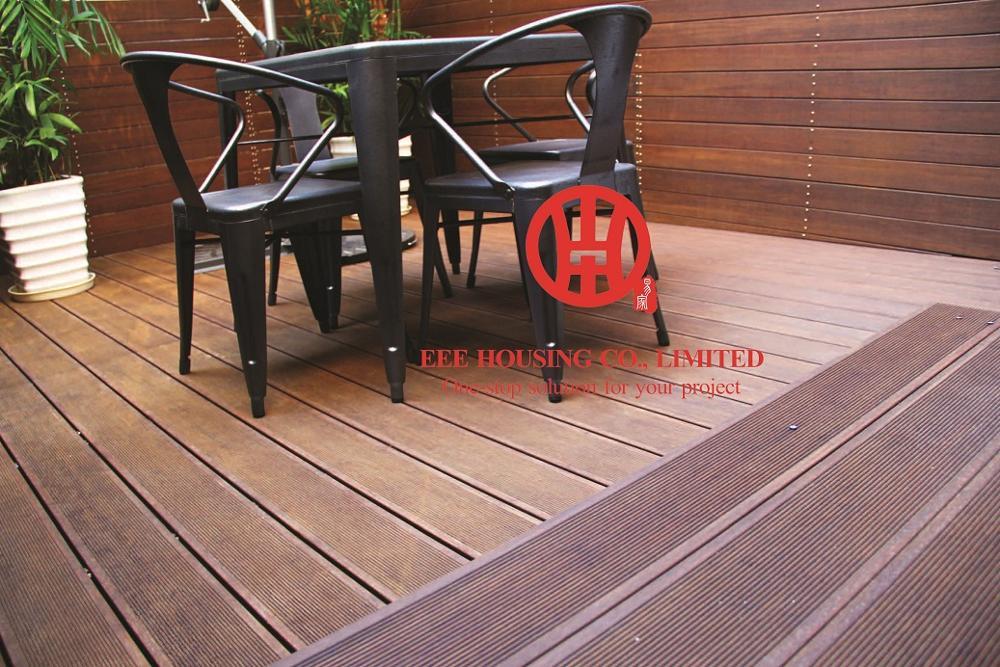 Planches de terrasse en bambou écologiques, idées de terrasses en terrasses