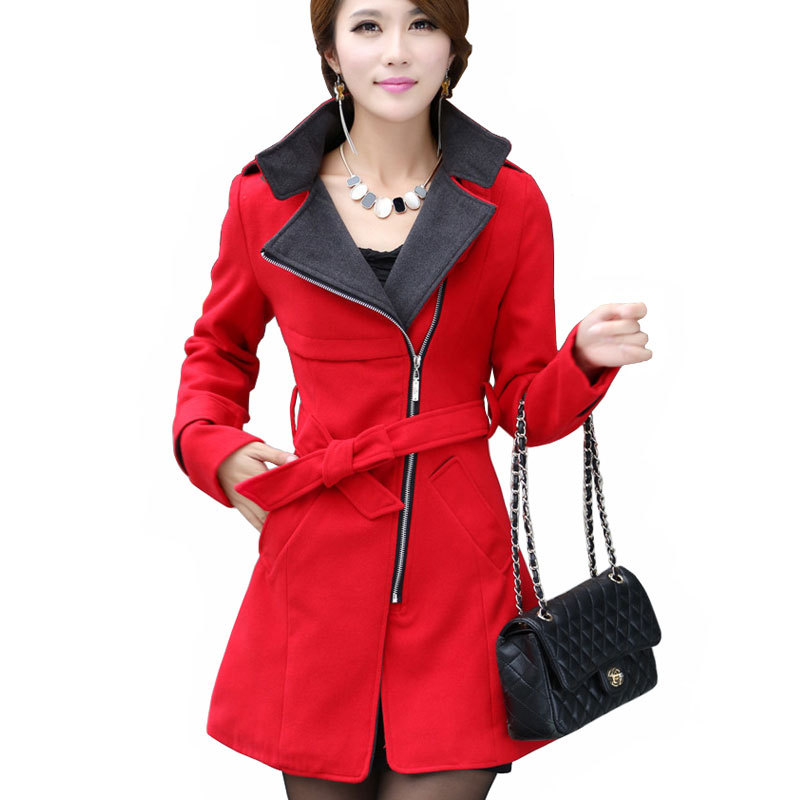 Ladies Long Red Coats - JacketIn
