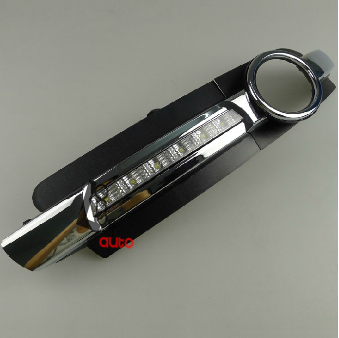 Car styling New LED Daytime Running Light Pour Audi A6 A6L C6 Voiture Brouillard DRL 2005 2006 2007 2008