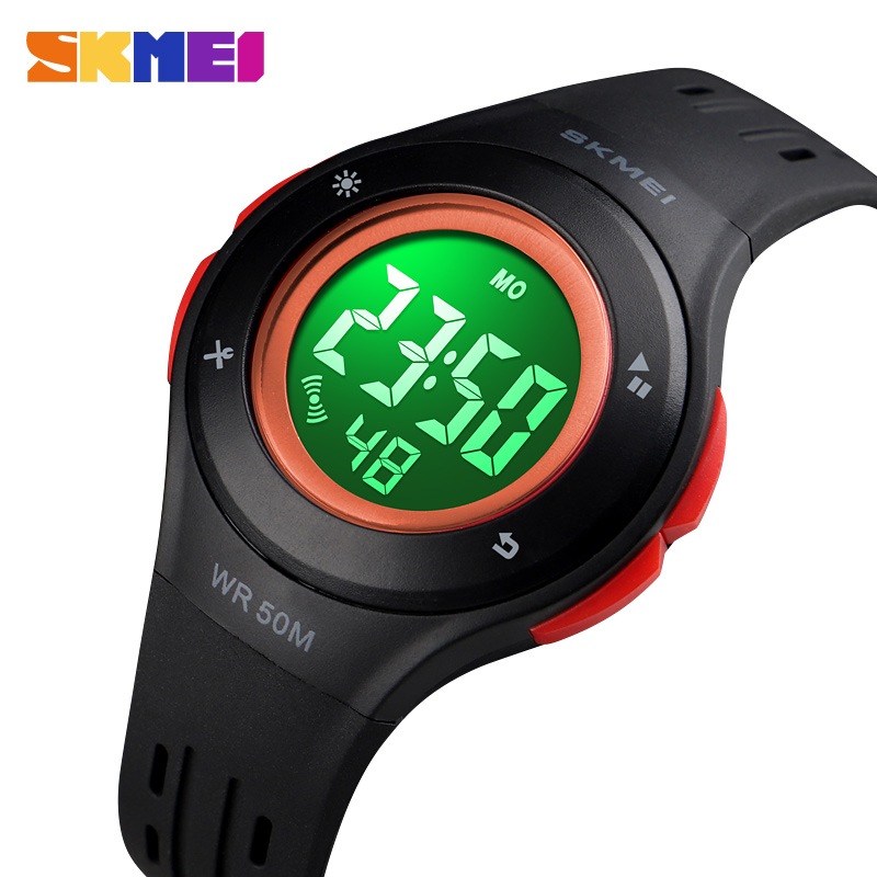 Kids Watches Fashion LED Digital Boys Sports Watches Plastic Alarm Date Casual Children Watch For Kid Girls Gift SKMEI 2018