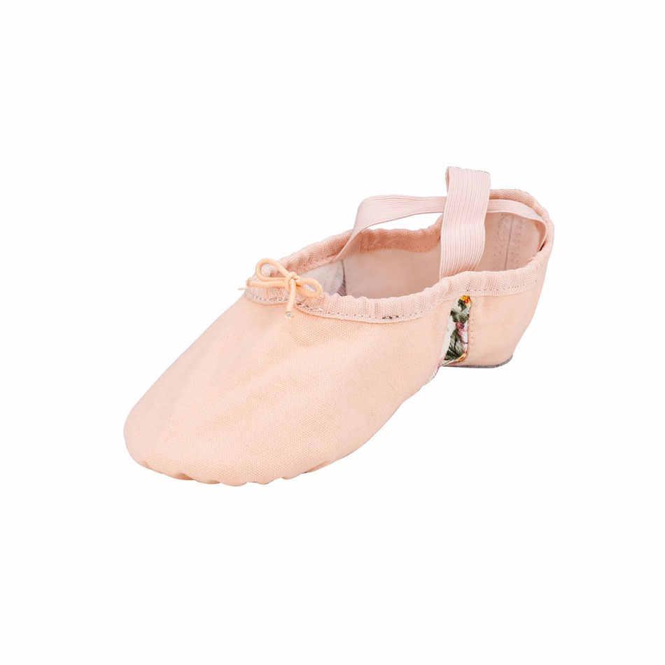 a5b6437b2 MSMAX Children Dance Shoes Girls Soft Ballet Latin Shoes Flat Heeled Indoor  Gym Cross Tied Elastic