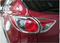 Chrome achterlicht lamp Trim 4 STKS Voor Mazda CX5 CX-5 2013 13