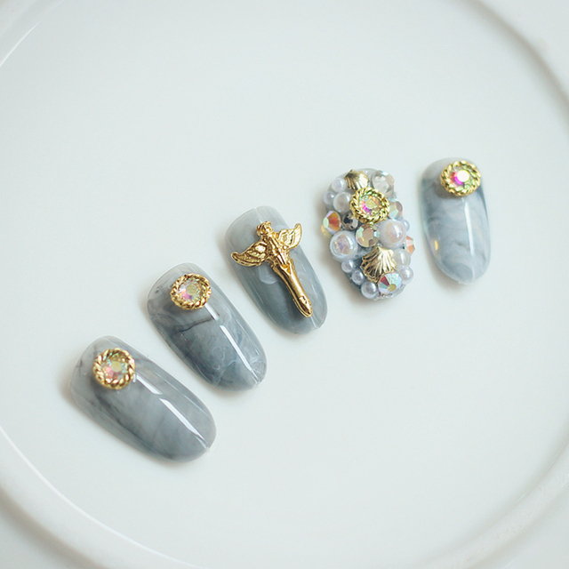 Women's Nail Tips Set with Glue
