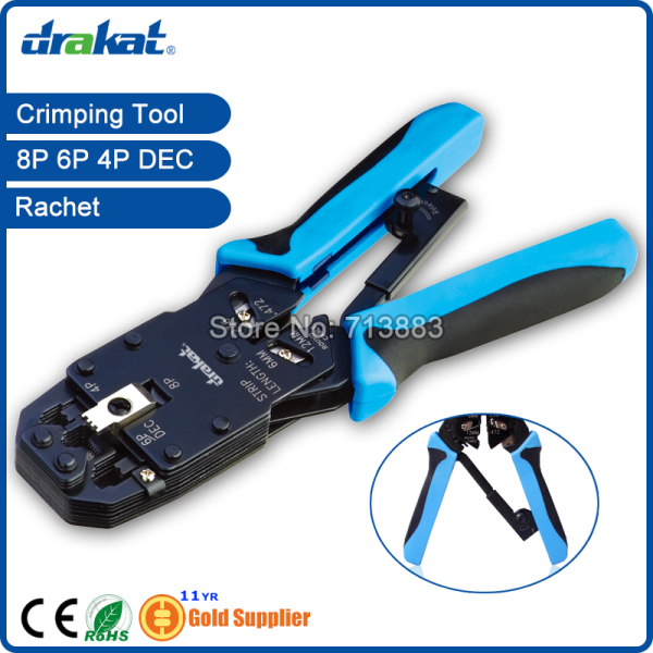 UTP STP Network Cable Crimp Tool RJ45 RJ11 RJ12 Ratchet TL 2008AR