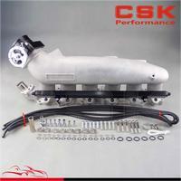 Впускной коллектор и топлива железнодорожных и 80 мм Дроссельной заслонки подходит для NISSAN R33 R34 RB25DET