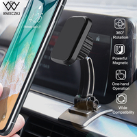 XMXCZKJ Magnet Car Phone Holder For iPhone XS X Huawei Magnetic Mount Car Holder For Phone in Car Cell Mobile Phone Holder Stand|Phone Holders & Stands|Cellphones & Telecommunications -