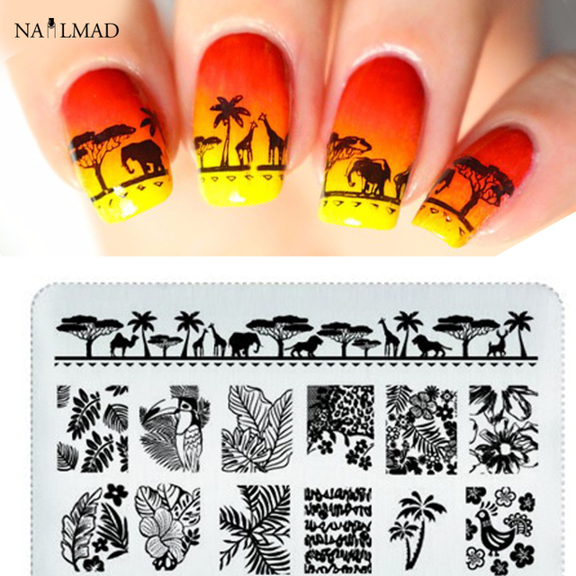 1pc Mandala Nail Stamping Template Flowers Leaf Stamping Plate