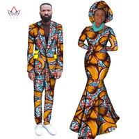 2017 г. в африканском стиле платья для Для женщин в африканском стиле платье Базен Riche Для женщин макси платье и мужские Повседневное Блейзер к
