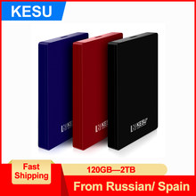 "Kesu 2.5 ""Eksternal Hard Drive Disk 120G 160 GB 250 Gb 320 GB 500 GB 750 GB TB 1 TB HDD Disco Duro Externo untuk Laptop/MAC/PS4/Xbox Satu(China)"