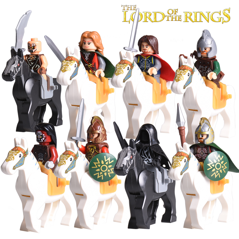 Building Block Hobbit Lord of the Rings Knight Horse 1set diy figures Model Bricks Wraith Aragorn Kids Educational Toys Hobbies digital multimeter victor vc 6056d3 4 auto range temperature test streamline design