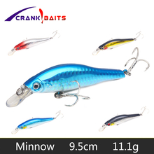CRANK BAITS Minnow Baits Lure 2# Hooks Sinking Wobbler Hard Fishing Carp Bass Isca Artificial Para Pesca Tackle YB40