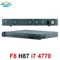 1U Firewall Network Appliance Hardware with 8 ports Gigabit lan 4 SPF Intel Core i7 4770 4G RAM 128G SSD Mikrotik PFSense ROS
