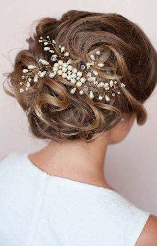 2 pc/lot vente haut de gamme à la main perle coiffe de cheveux de mariage  accessoires de mariée bijoux de cheveux