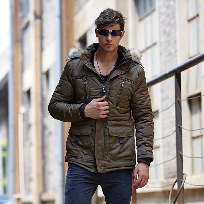 Подробнее о Winter Men Parkas casual Jackets Man Hooded windproof Thick Warm Outwear Overcoat Wadded Coat style Solid brand clothing winter men parkas casual jackets man hooded windproof thick warm outwear overcoat wadded style solid fur collar coat 5xl