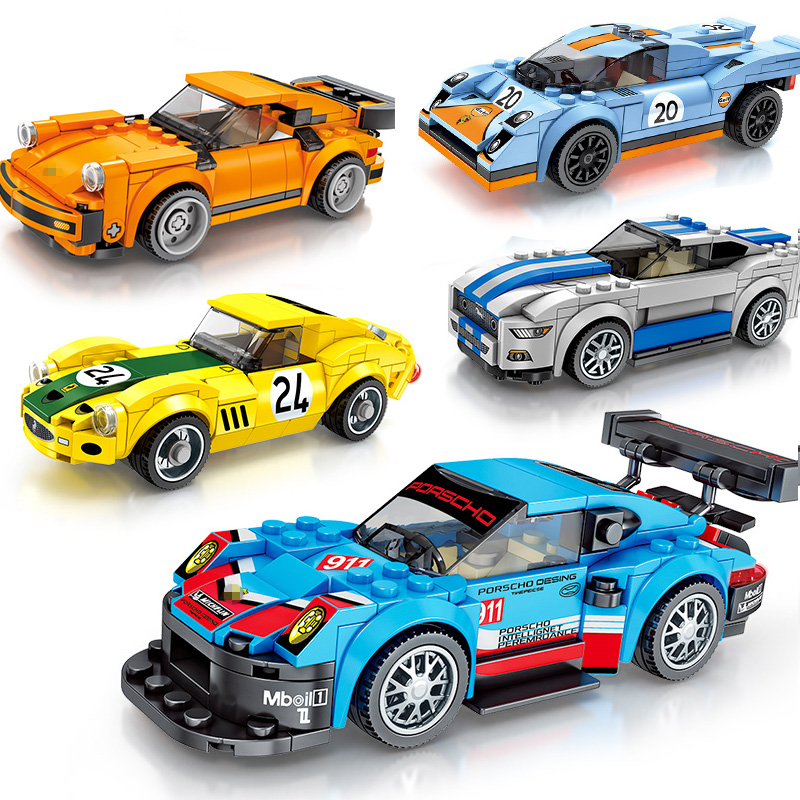 Blocks Trend Mark City Transformation Robot Mech Sports Car Block Set Compatible Legoings Racers Speed 2 In 1 Model Diy Bricks Toy For Kids Factories And Mines