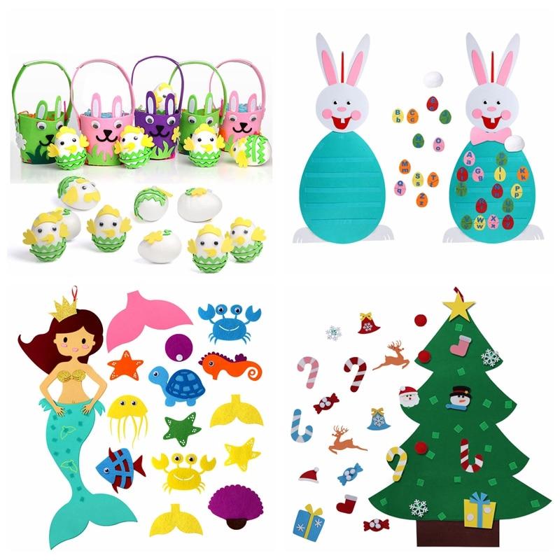 OurWarm Handmade DIY Felt Toys For Children Felt For Needlework Creativity Felt Animals Decoration Do It Yourself