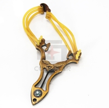 CS32028 Powerful Creative Metal Slingshot Shot Brace Catapult With Rubber Band For Outdoor Hunting Shooting Sports Entertainment
