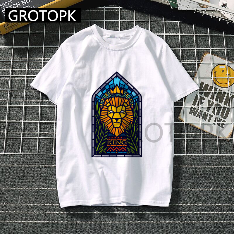 New <font><b>LION</b></font> <font><b>KING</b></font> <font><b>T</b></font> <font><b>Shirt</b></font> <font><b>Women</b></font> Casual Funny Cartoon Print Tshirt Harajuku Kawaii Fashion <font><b>T</b></font>-<font><b>shirt</b></font> Summer Short Sleeve Top Tees image