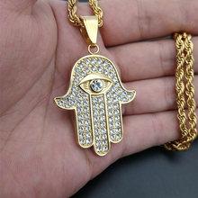 Мужское и женское ожерелье рука хамсы Фатимы кулон цепочка золотого