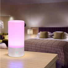 Good House Illumination Desk Lamp Contact Sensor Bedside Lamp + Dimmable Heat White Gentle & Coloration Altering RGB