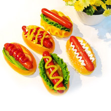 Kawaii Cute Squishy Funny Hot Dog Squishy Slow Rising Bread Fridge Magnetic Stickers Decor Toy Gift wholesale(China)