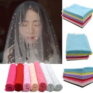Image 5 - Rollo de tul de lentejuelas con purpurina, 160x100cm, tela de tul para boda, fiesta, Mariage, tutú de decoración de falda, suministros para manualidades láser de Organza
