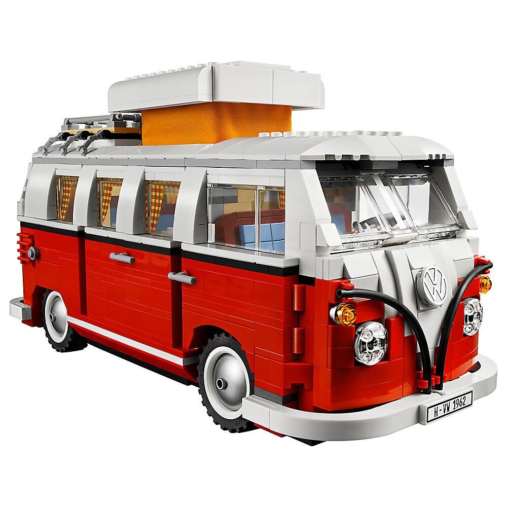 폭스 바겐 t1 camper van 호환 legoe creator expert 10220 빌딩 블록 어린이를위한 장난감 벽돌 자동차 모델 kid gift moc-에서블록부터 완구 & 취미 의  그룹 1