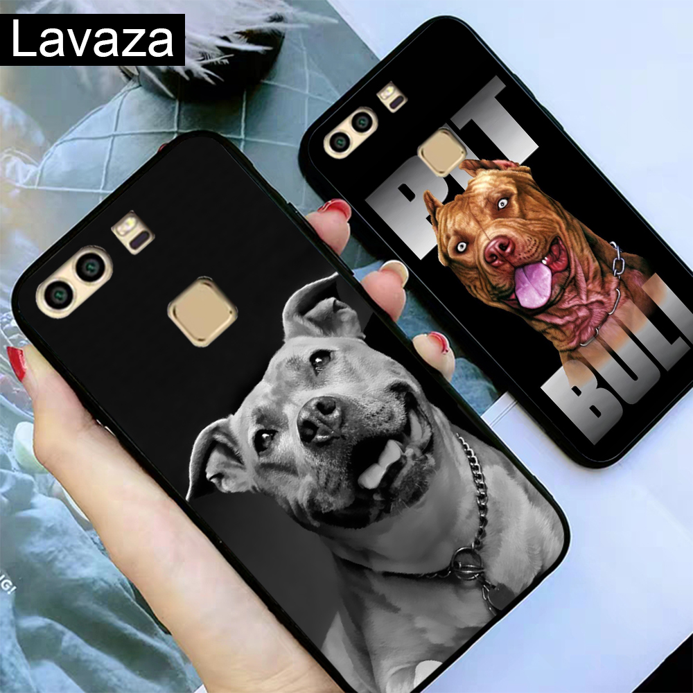 Lavaza Pit Bull Dog Pitbulls Silicone Case for Huawei P8 Lite 2015 2017 P9 2016 Mini P10 P20 Pro P Smart 2019 P30 in Fitted Cases from Cellphones Telecommunications