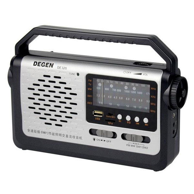 Best price original Degen DE320 Radio FM MW SW1-2 Handheld Full Band Radio Receiver USB Card mp3 Player Multiband Radio Y4299A full band portable radio degen de29 fm am digital tuning clock beautiful sound rechargeable mp3 player radio dot matrix screen