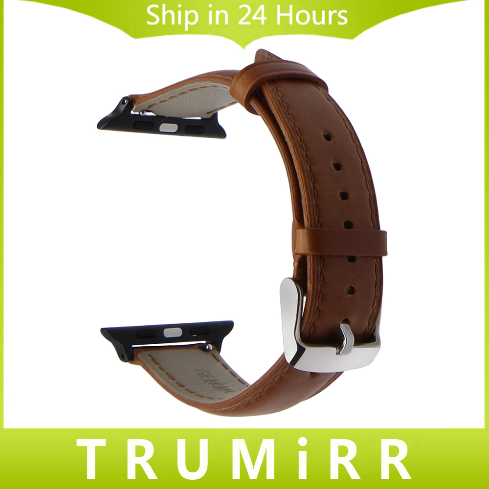 Italian Genuine Leather Watchband for 38mm 42mm iWatch Apple Watch Stainless Steel Buckle Band Crazy Horse Strap Wrist Bracelet vintage red brown crazy horse genuine leather watchband for apple watch 38mm 42mm women men replacement band strap for iwatch