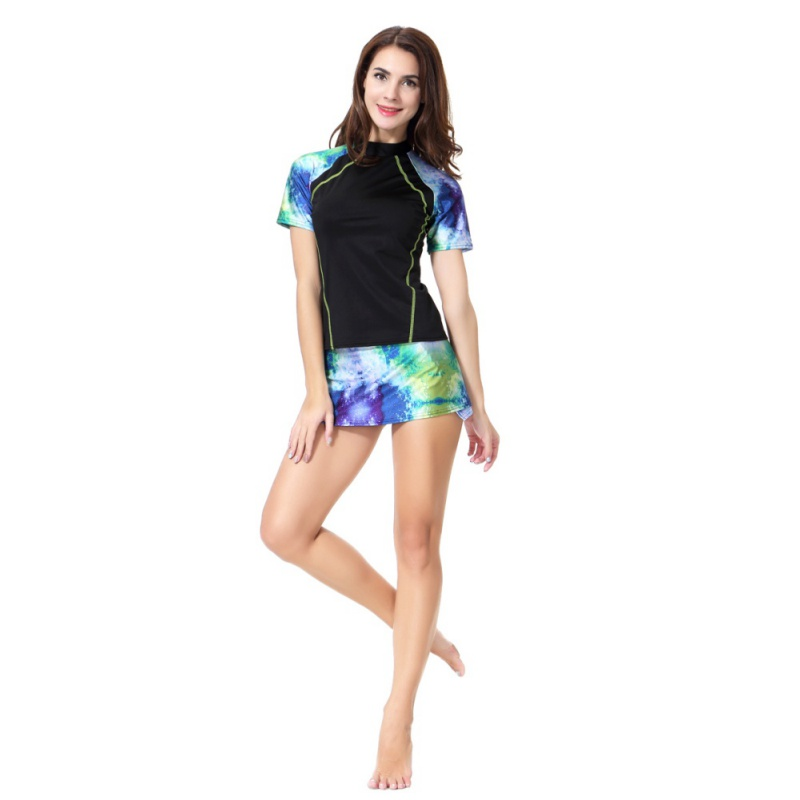 Print Arab Muslim Swimsuit Conservative Split Swimsuit Malaysian Long Sleeves Swimwear High Quality Newest