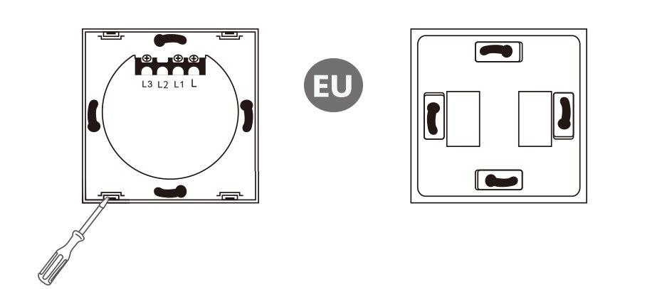 TUCLIX UE/Reino Unido interruptor de luz de pared