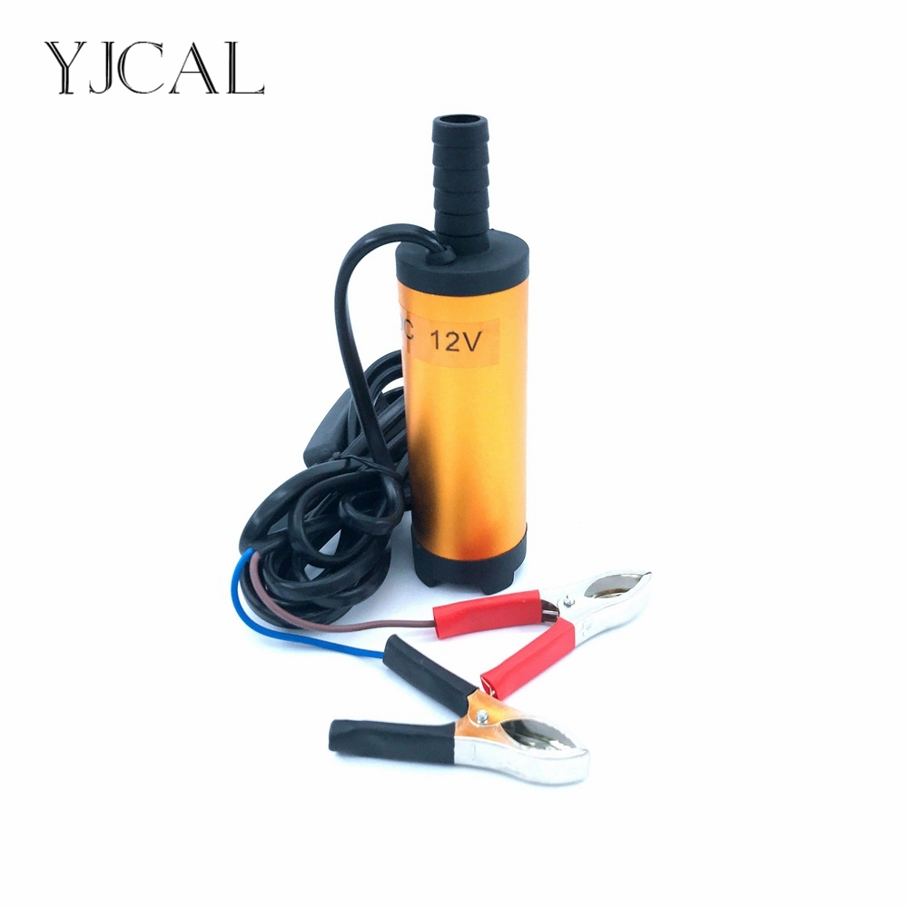Submersible Diesel Fuel Water Oil Pump Diameter 38MM Aluminum Alloy DC 12V 24V 12L/Min 25W Car Camping Portable With Switch 51mm dc 12v water oil diesel fuel transfer pump submersible pump scar camping fishing submersible switch stainless steel