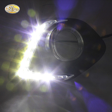 SNCN LED DRL Daytime running lights for Mitsubishi ASX RVR 2013 2014 front fog lamp driving light with dimming function