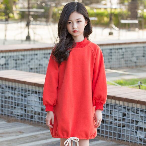a8f08ea882 6-16 years kids girls long sleeve dress 2019 new autumn children c...