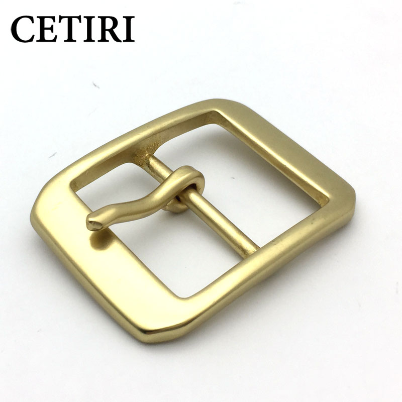 CETIRI High Quality Vintage Solid Brass Pin Buckle Men's Belt Buckles Fit 3cm 1.54in Wide Belt Classic Mens Jeans Accessories
