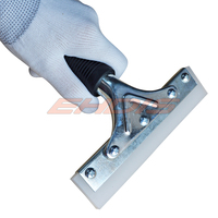 6 Pro Squeegee Square Blade Edge Silicone With Rubber Handle For Water Shower Window And Car