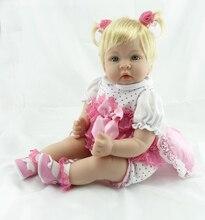 22 inch 55 cm Silicone baby reborn dolls Children's toys New love silicone doll Festival gift