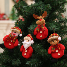 Noel New Year Santa Claus Snowman Reindeer Pendant Natal Christmas Tree Decorations Xmas Ornaments F