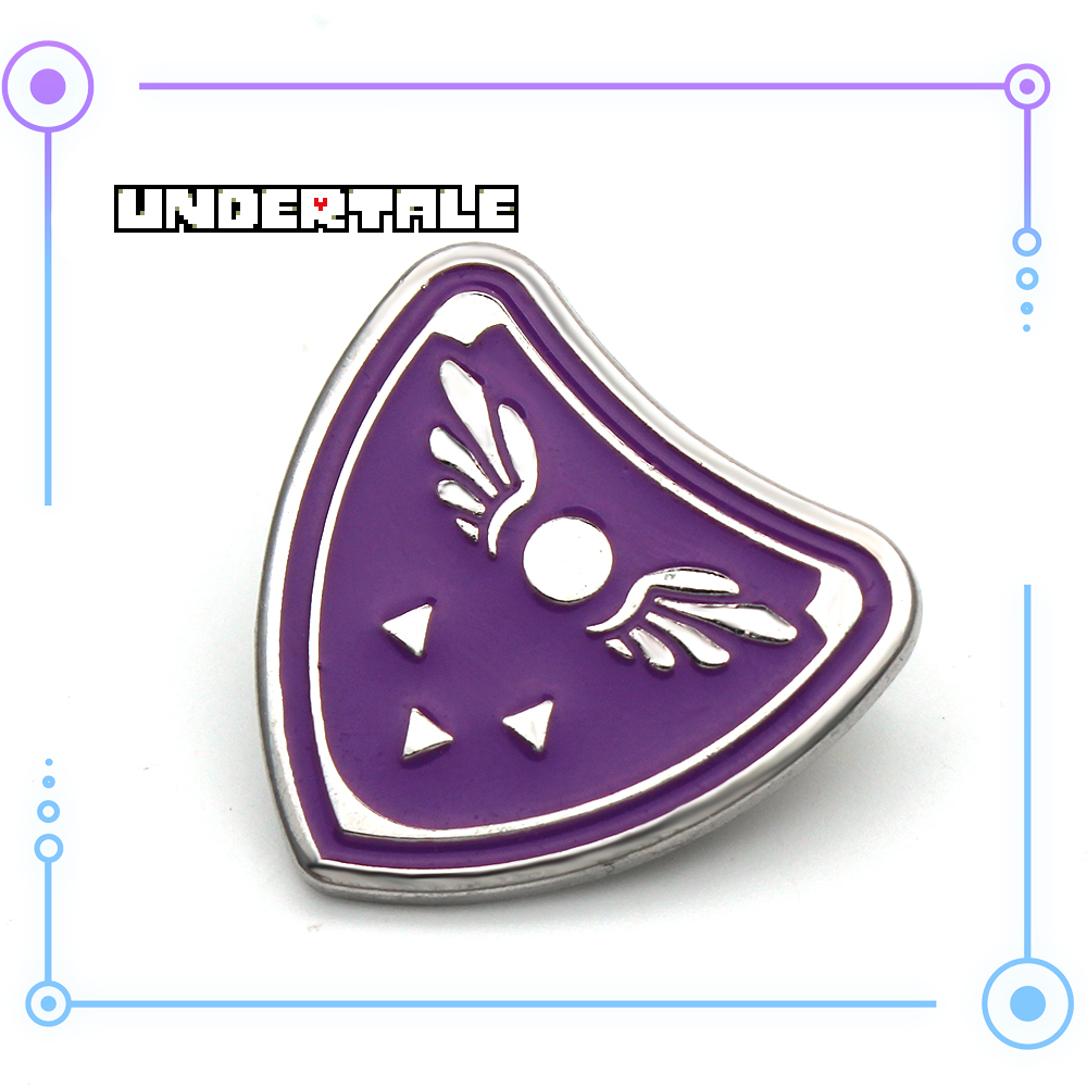 Three Styles  Hot Game Undertale Cosplay Symbol Metal Brooch Ornament Gift With Undertale Logo