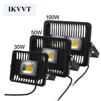 30W 50W 100W Hight Power Outdoor Led Floodlight Lamps 220v Ip65 Waterproof 2 Pcs Free Shipping