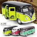 Volkswagen Автобус T1 1:36 Масштаб Автобус Сплава Модели Металла Старинные Классические Игрушки Автомобиля ДИТ ЛИТОГО Сплава Высокого Качества Детские Игрушки