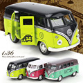 Volkswagen Bus T1 1:36 Scale Bus Alloy Models Metal Vintage Classic Car  Toys DIT CAST High Quality Alloy Kids Toys
